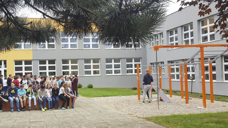 Venkovní tělocvična  pro ZŠ ve Starém Městě u Uherského Hradiště
