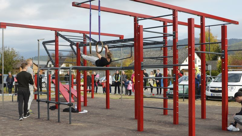 Workoutové hřiště v Rapotíně